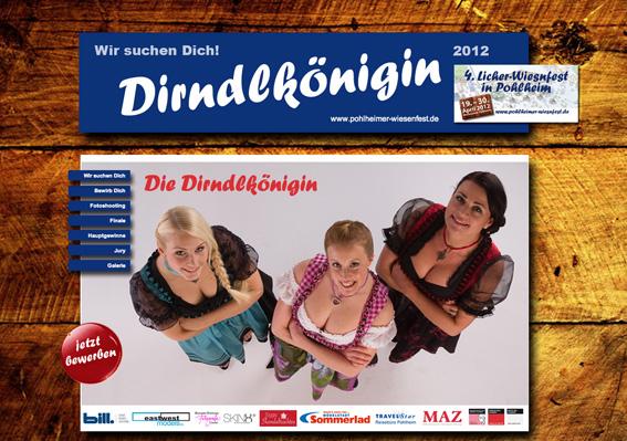 Dirndlkönigin Pohllheimer Wiesenfest 002 Pressefoto Kosmetikschule Schäfer