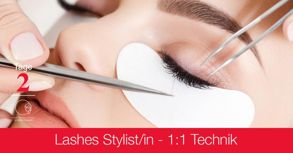 Ausbildungen Lashes 1-1 Technik - Kosmetikschule Schäfer