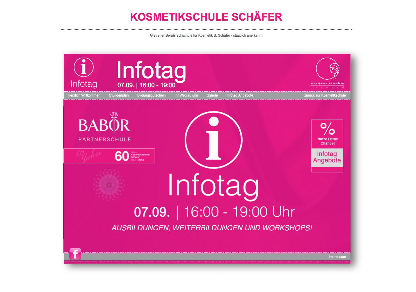 Infotag - Kosmetikschule Schäfer