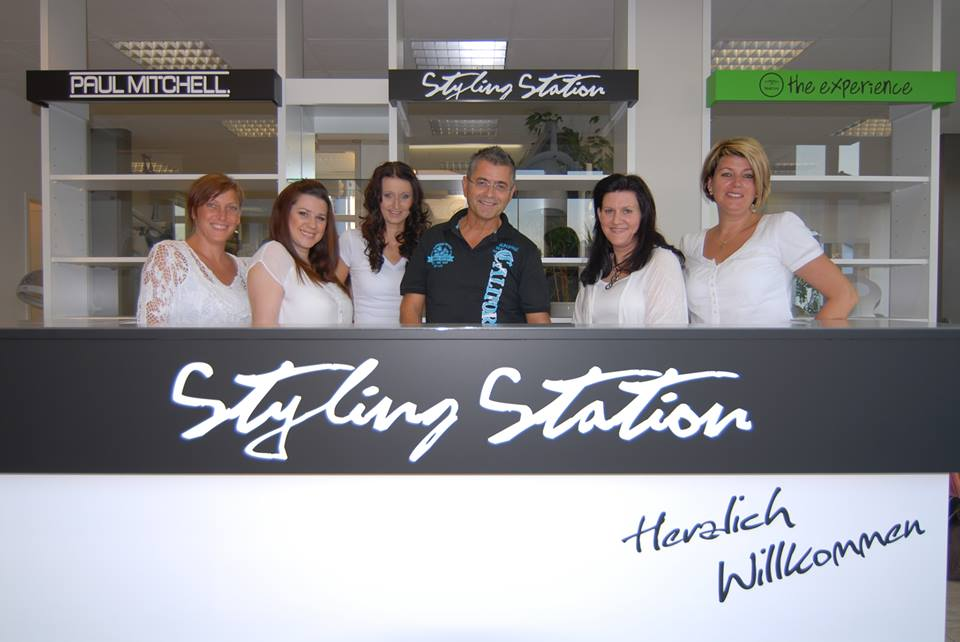 Styling station eingangstresen
