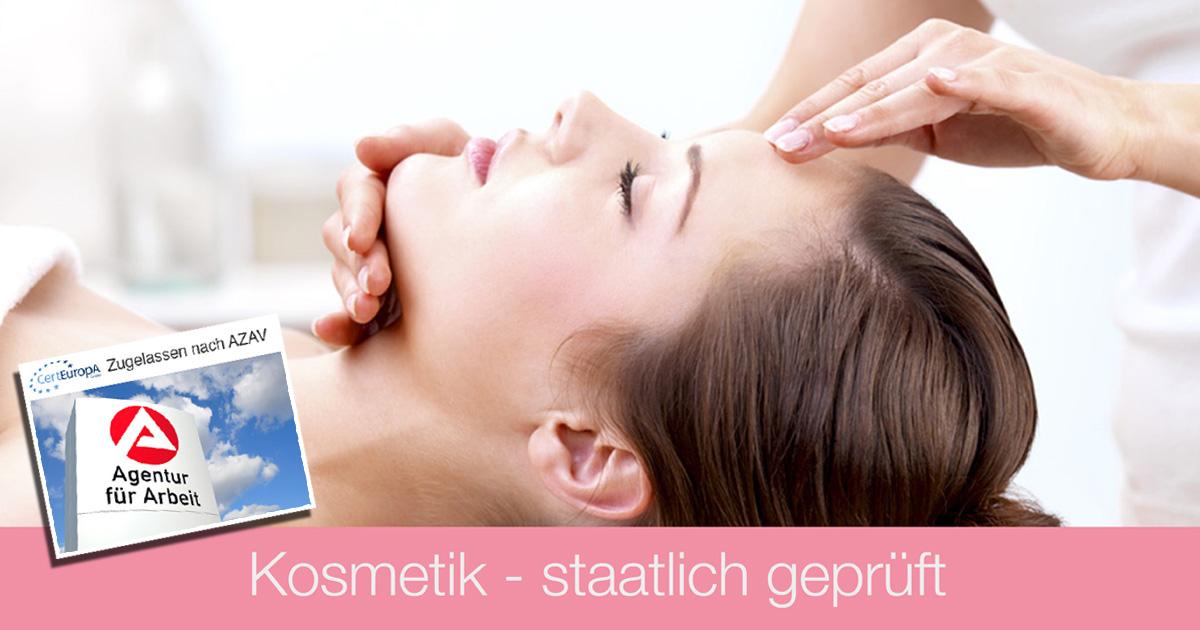 Ausbildung Kosmetik - AZAV - Bildungsgutschein - Kosmetik staatlich geprüft - Kosmetikschule Schäfer