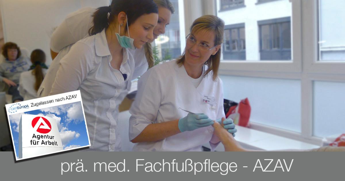 Ausbildung Fußpflege - AZAV - Bildungsgutschein - med. Fachfußpflege - Kosmetikschule Schäfer