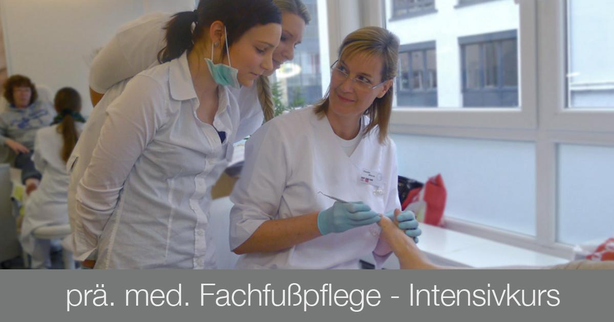 Ausbildung Fußpflege - med. Fachußpflege Intensivkurs - Kosmetikschule Schäfer