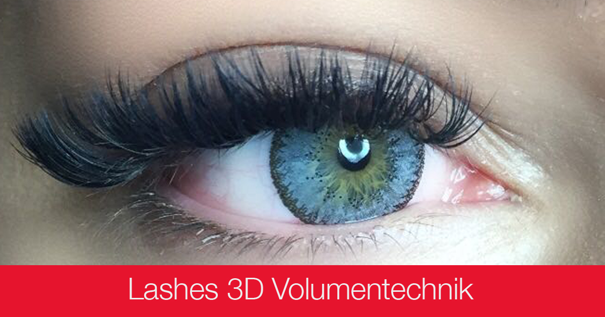 Ausbildungen Make-up - 3D Volumentechnik Lashes - Kosmetikschule Schäfer