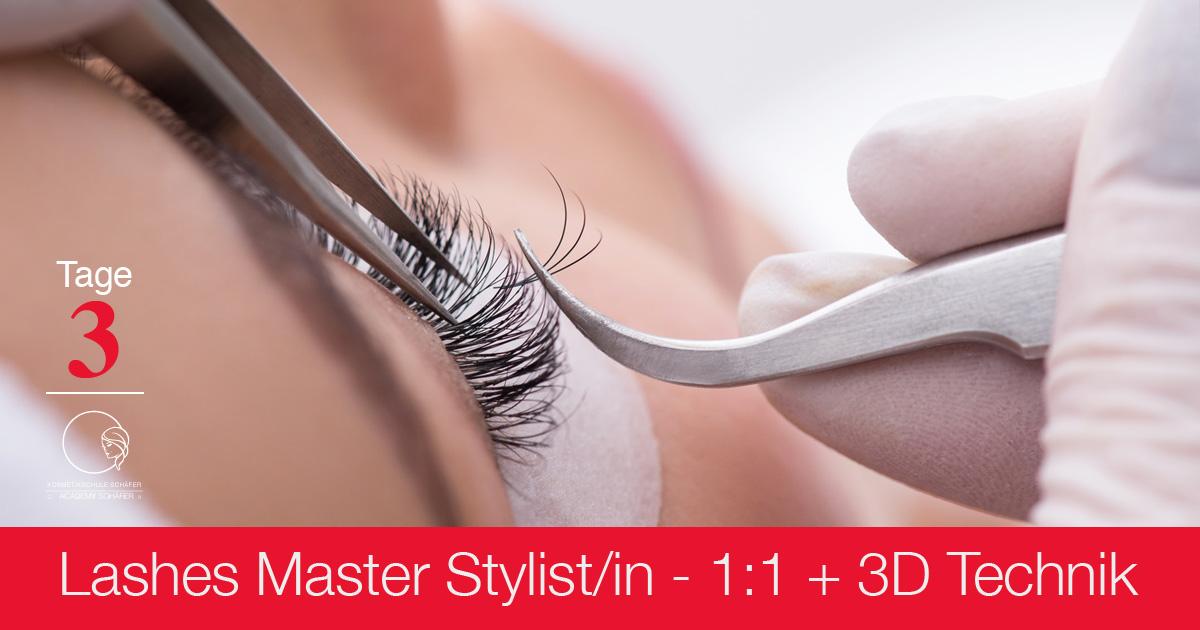 Ausbildungen Lashes Master Stylist 1-1 + 3D Technik - Kosmetikschule Schäfer