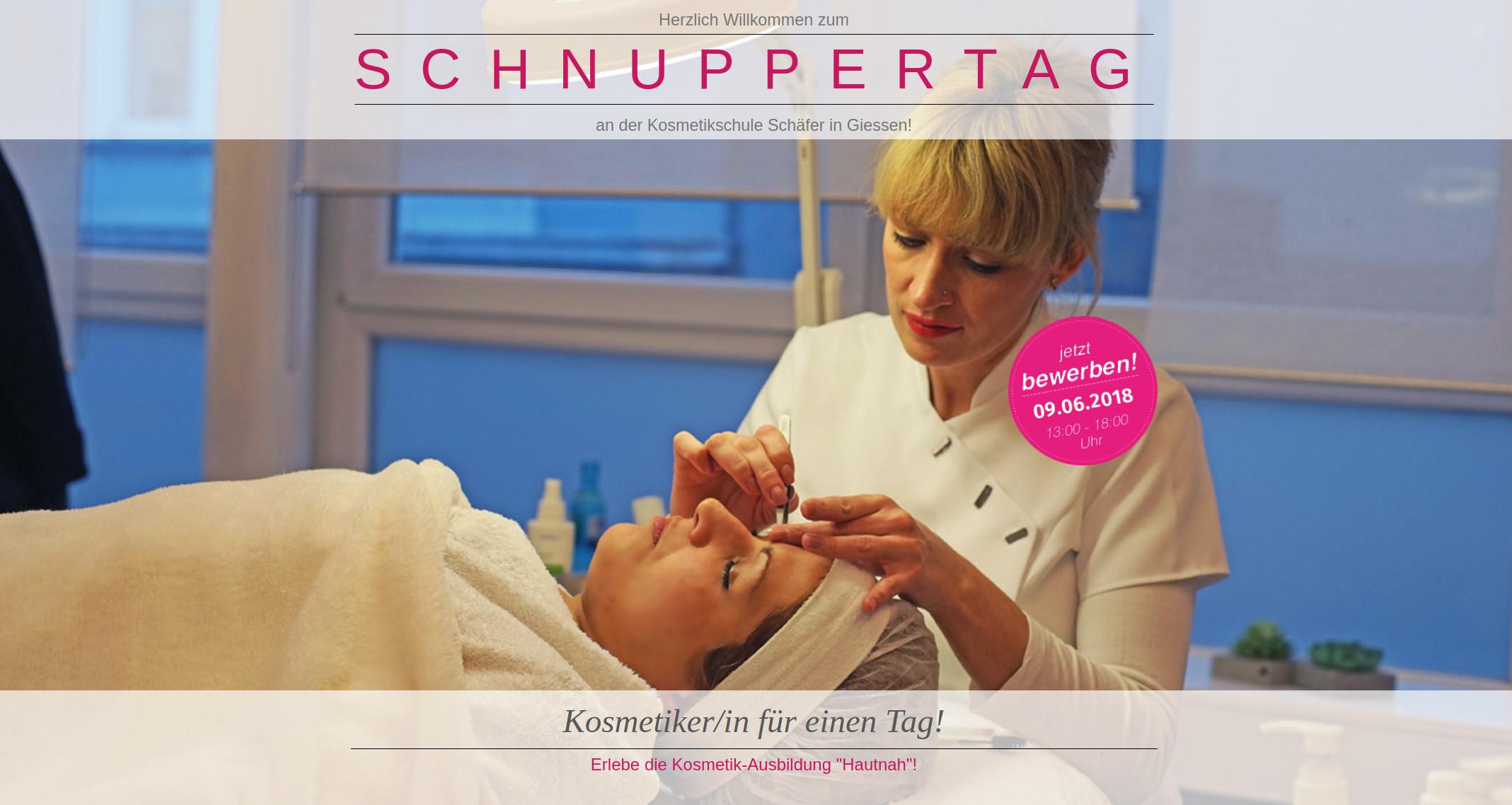 schnuppertag - Kosmetikschule Schäget - Gießen Kopie