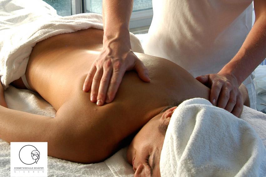 Ausbildung Ganzkörpermassage - Kosmetikschule Schäfer - Giessen + Frankfurt