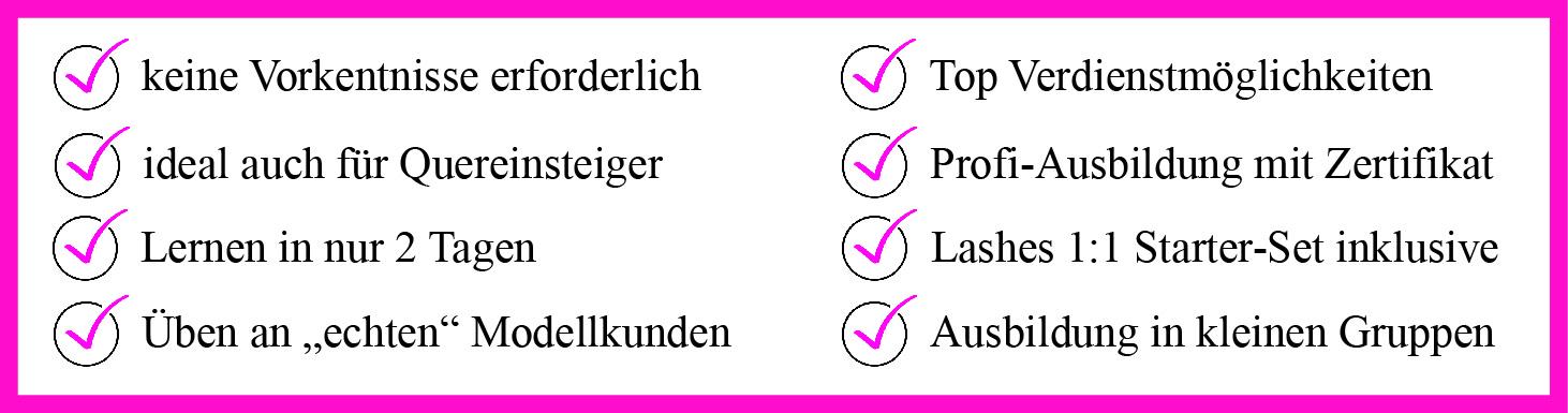 lashes 1-1 Ausbildung Kosmetikschule Schäfer