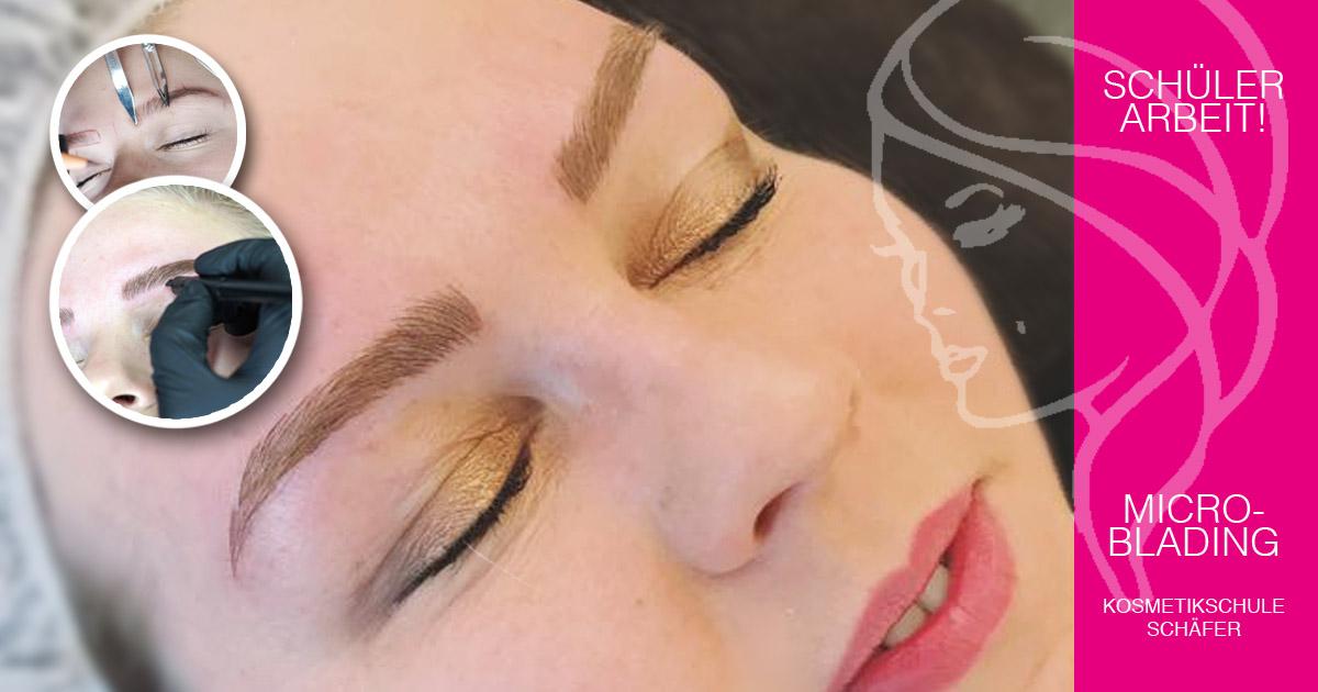 Modelle gesucht - Microblading 04 - Schülerarbeit - Kosmetikschule Schäfer
